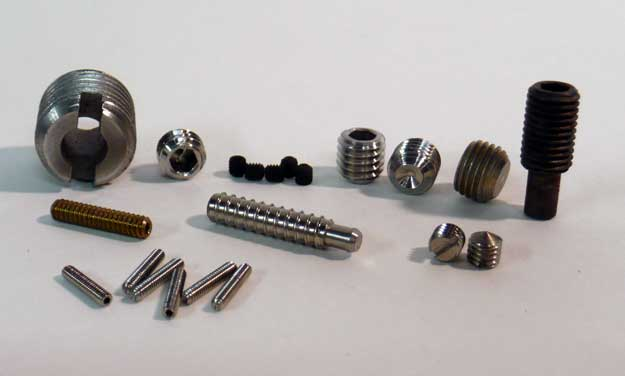 Set screws manufactured-to-print: G-Fast Distribution, Inc.